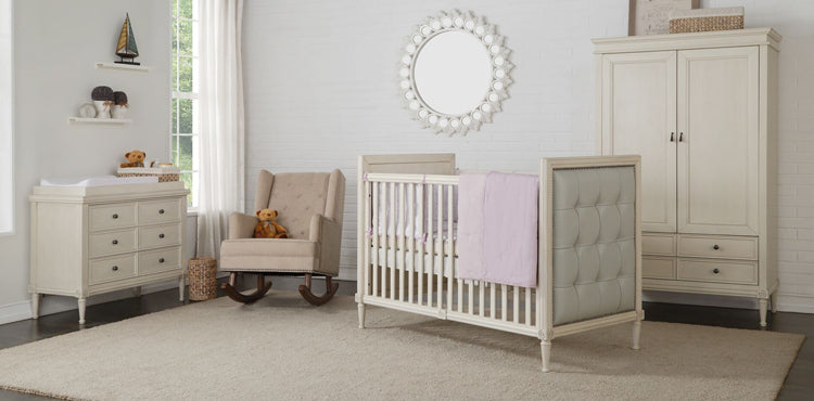Teddy One Aylesbury Kids Set of 3 Pcs - Cot Bed (Wevet Finish), Dresser and Wardrobe
