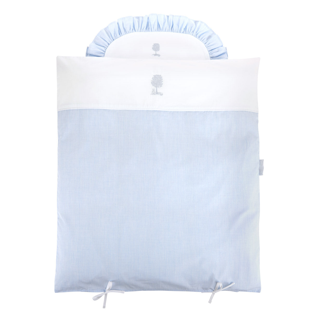 Theophile & Patachou Cradle Duvet Cover and Pillowcase - Sweet Blue