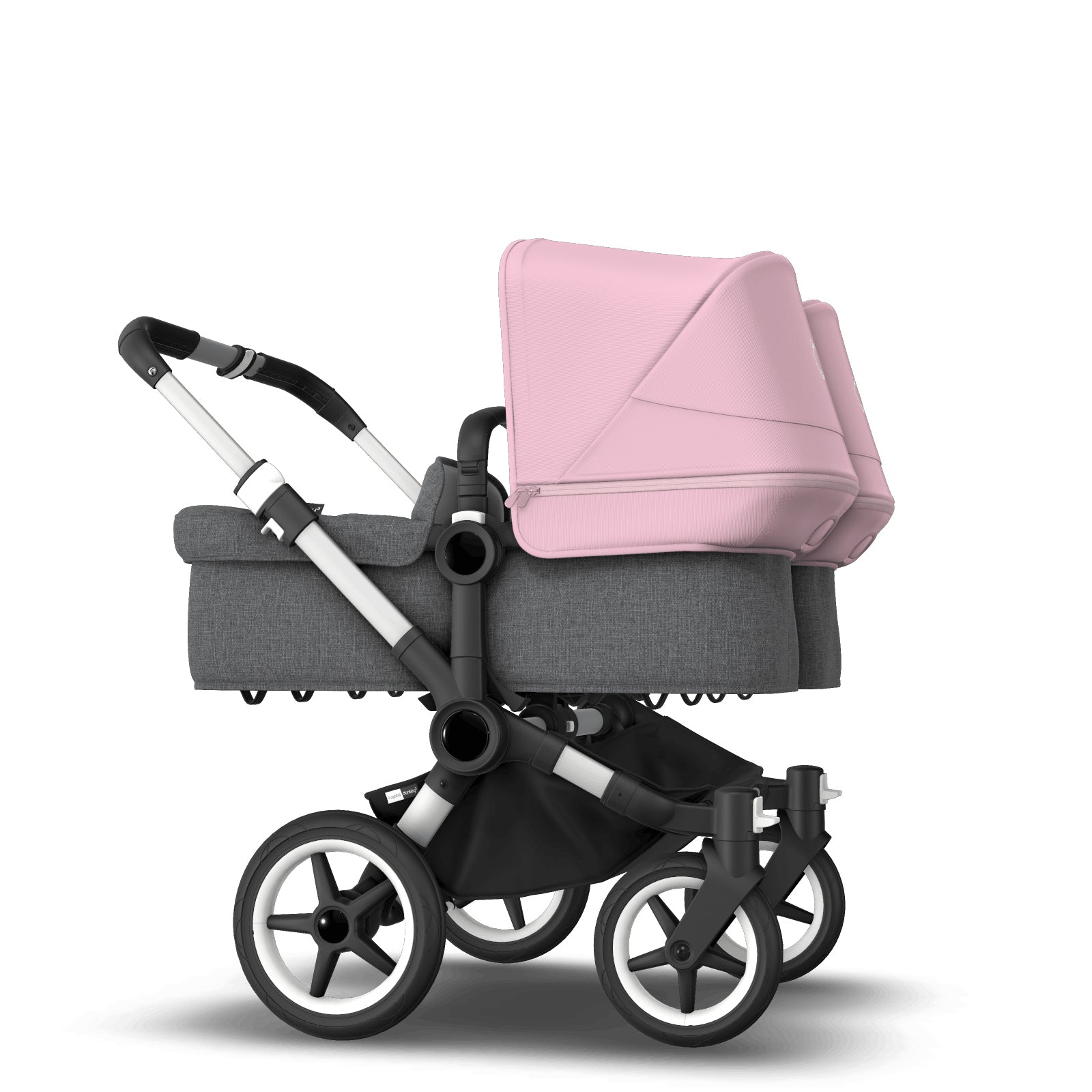 Bugaboo Donkey 3 Twin Seat and Carrycot Pushchair - Soft Pink