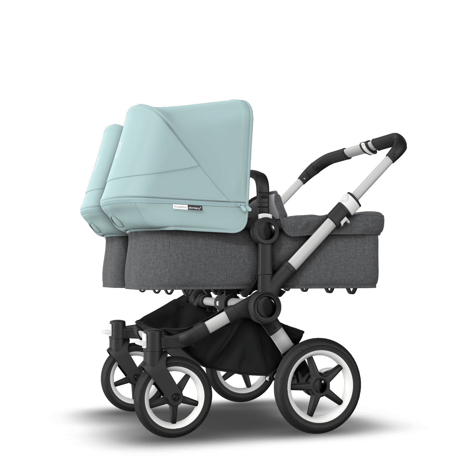 Bugaboo Donkey 3 Twin Seat and Carrycot Pushchair - Vapor Blue