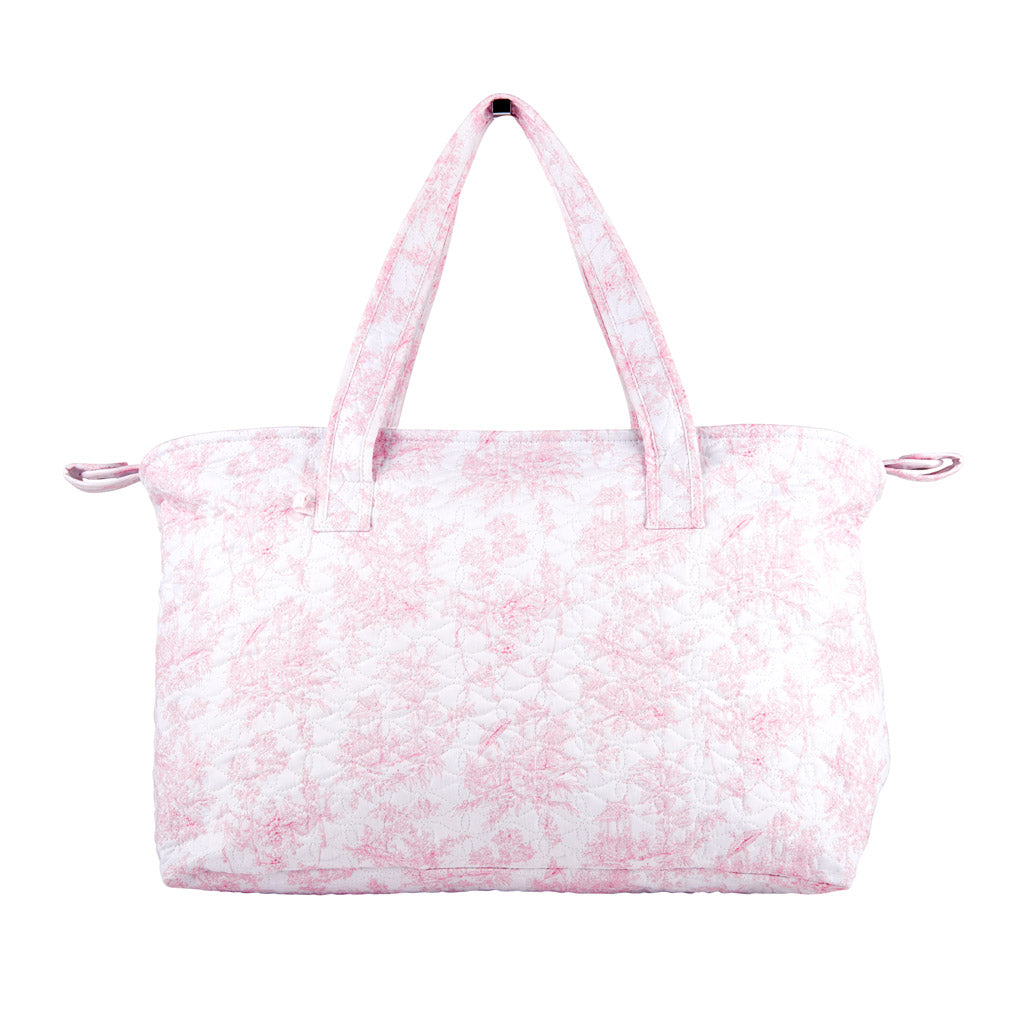 Theophile & Patachou Changing Bag and Mat Quilted - Sweet Pink