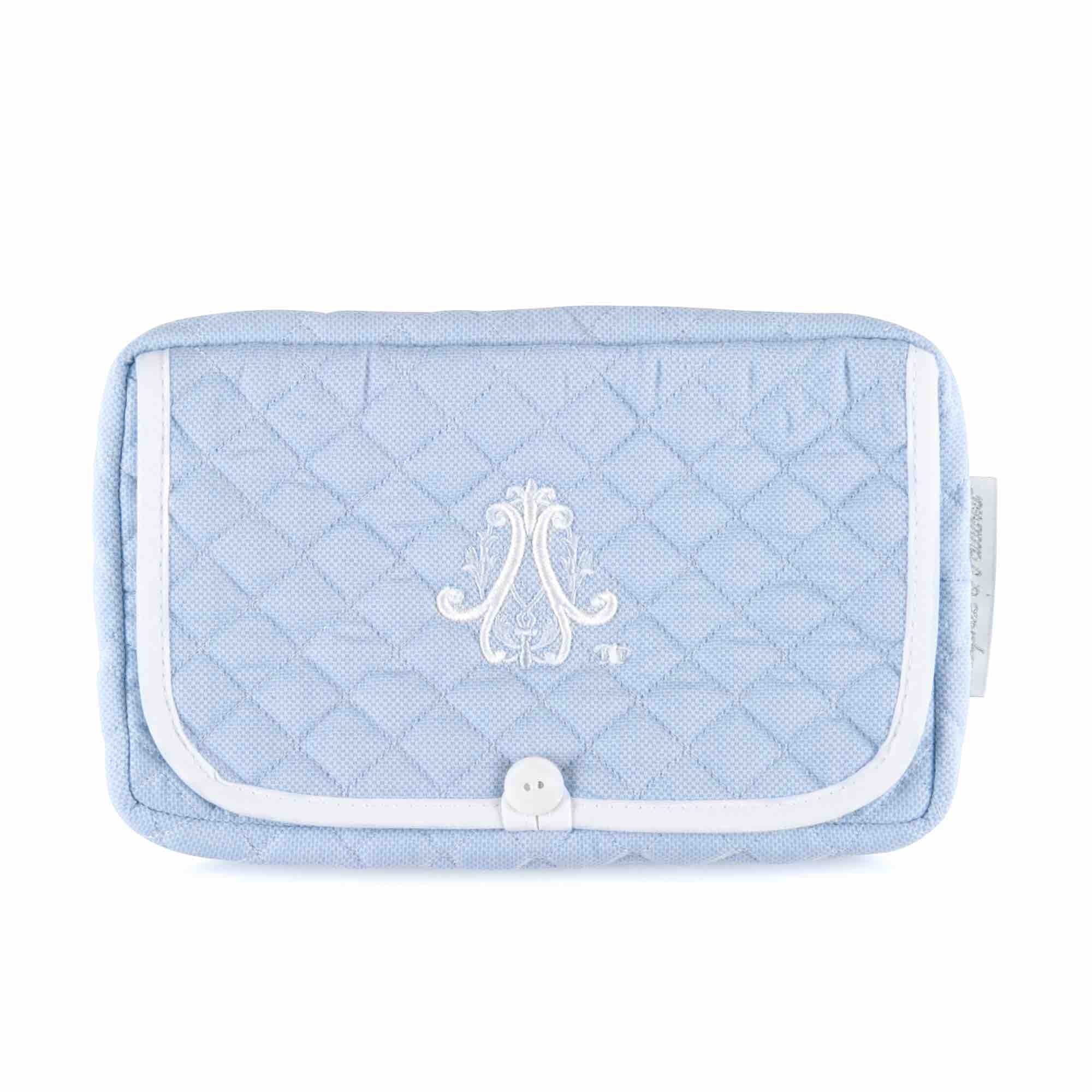 Theophile & Patachou Travel Baby Wipes Cover - Indigo