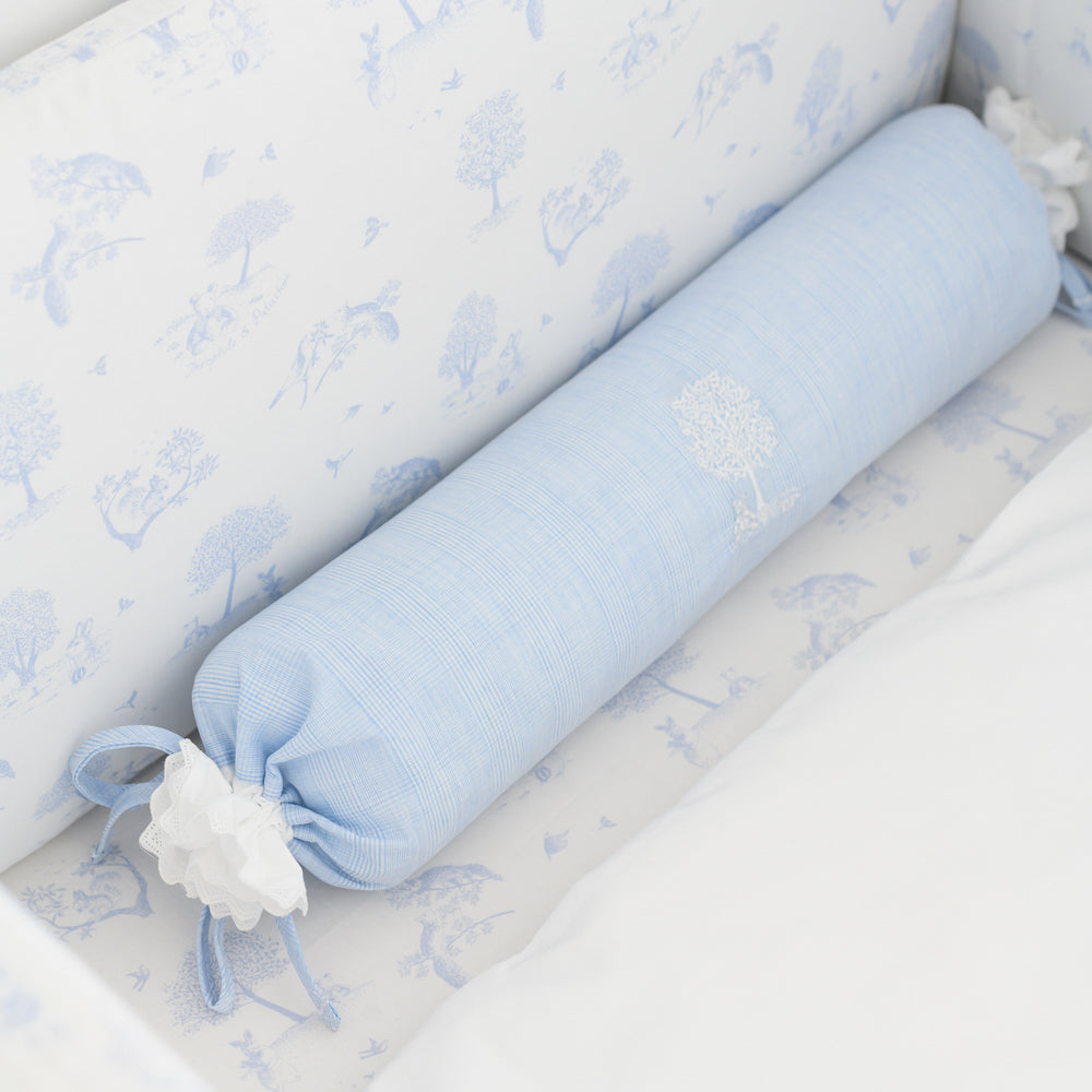 Theophile & Patachou Baby Roll Cushion - Sweet Blue