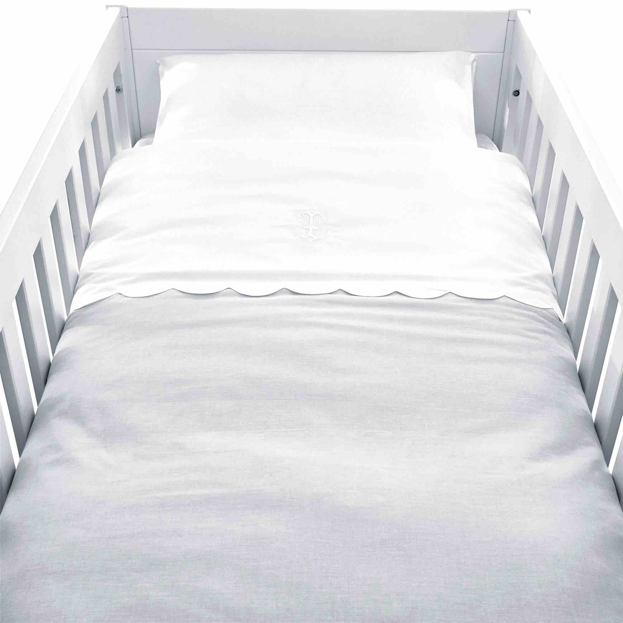 Theophile & Patachou Cot Bed Duvet Cover - Pearl