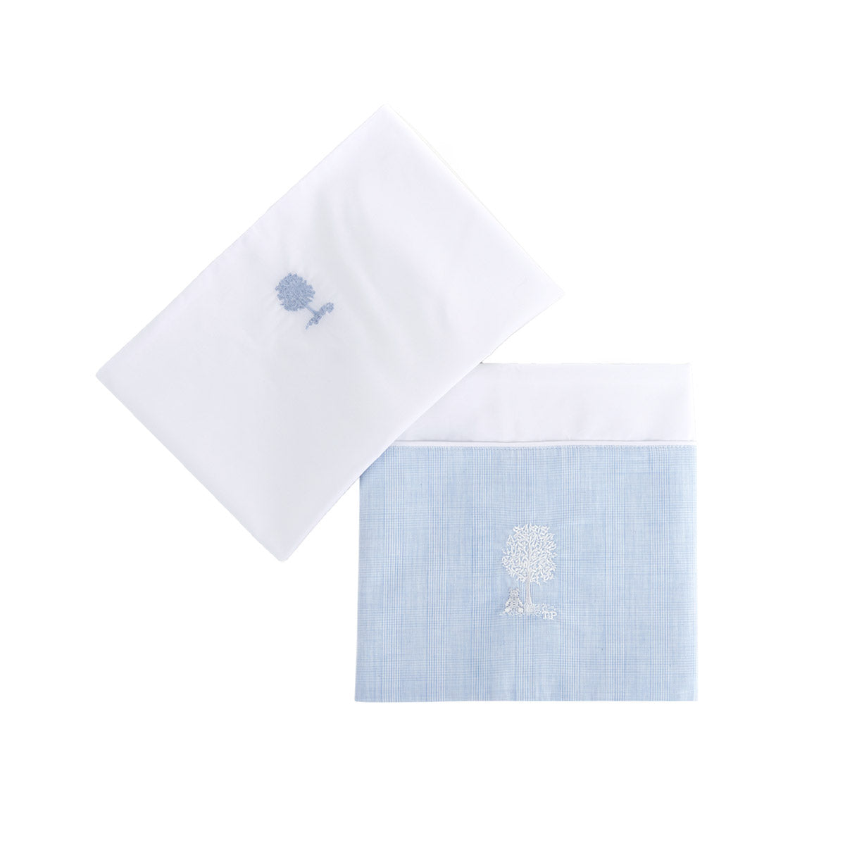 Theophile & Patachou Cotbed Sheet and Pillowcase - Sweet Blue