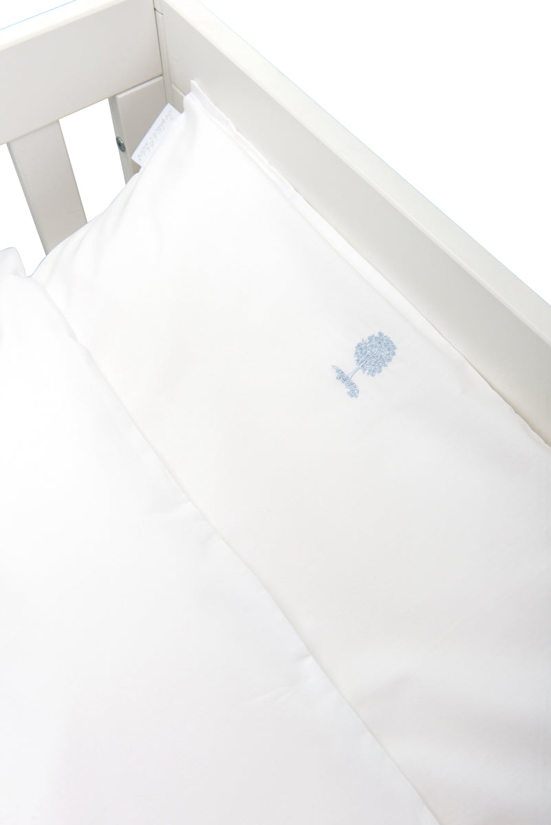 Theophile & Patachou Cot Bed Duvet Cover and Pillowcase Set in Cotton for Babybed - Sweet Blue