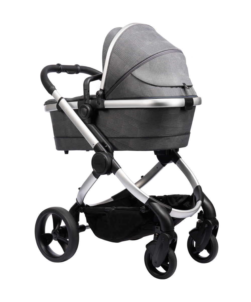 iCandy Peach Pushchair and Carrycot - Satin Dark Grey Check