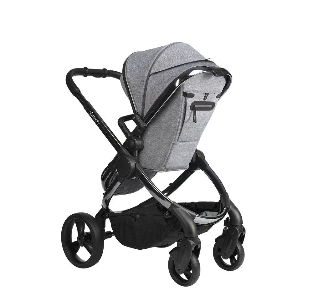 iCandy Peach Pushchair and Carrycot - Phantom Light Grey Check