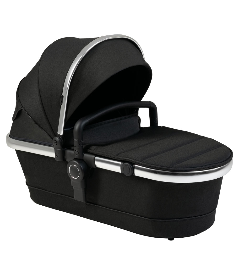 iCandy Peach 2nd Carrycot Fabric - Black Twill