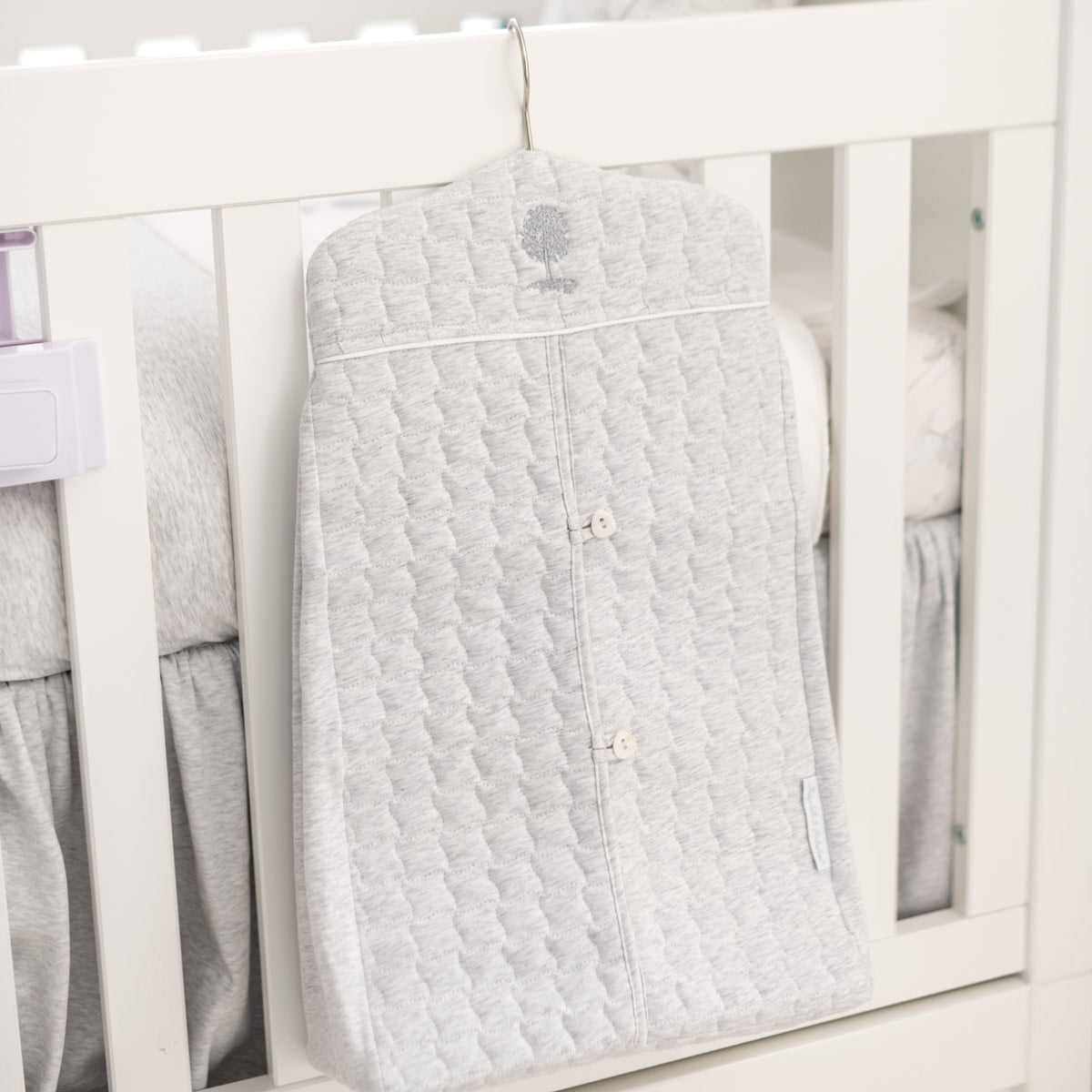 Theophile & Patachou Nappy Stacker 59X33 cm - Quilted Soft Grey