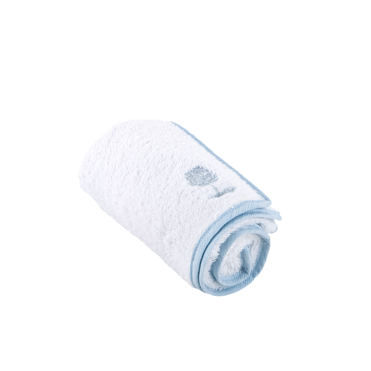 Theophile & Patachou Towel for Changing Mat - Sweet Blue / White