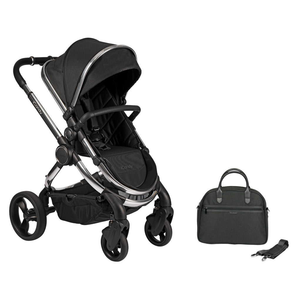 iCandy Peach Pushchair and Carrycot with Bag