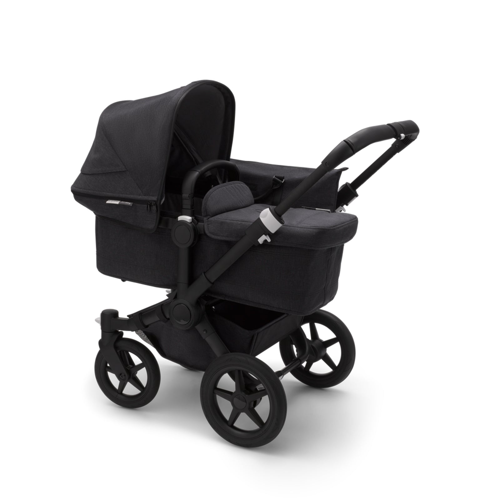 Bugaboo Donkey 3 Mono Seat and Carrycot Pushchair - Mineral Washed Black