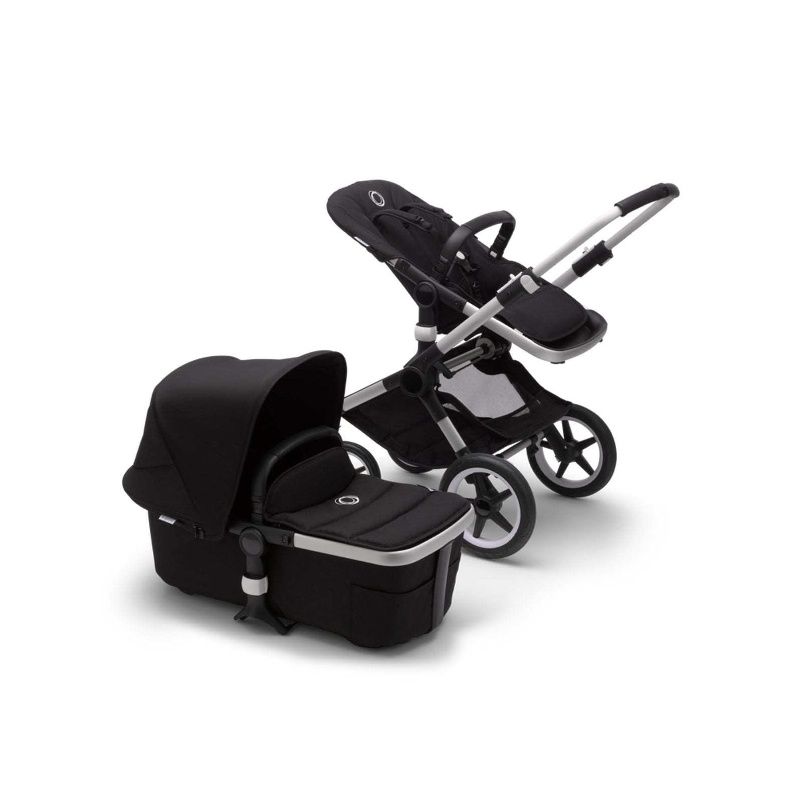 Bugaboo Fox 2 Seat and Carrycot Pushchair - Black