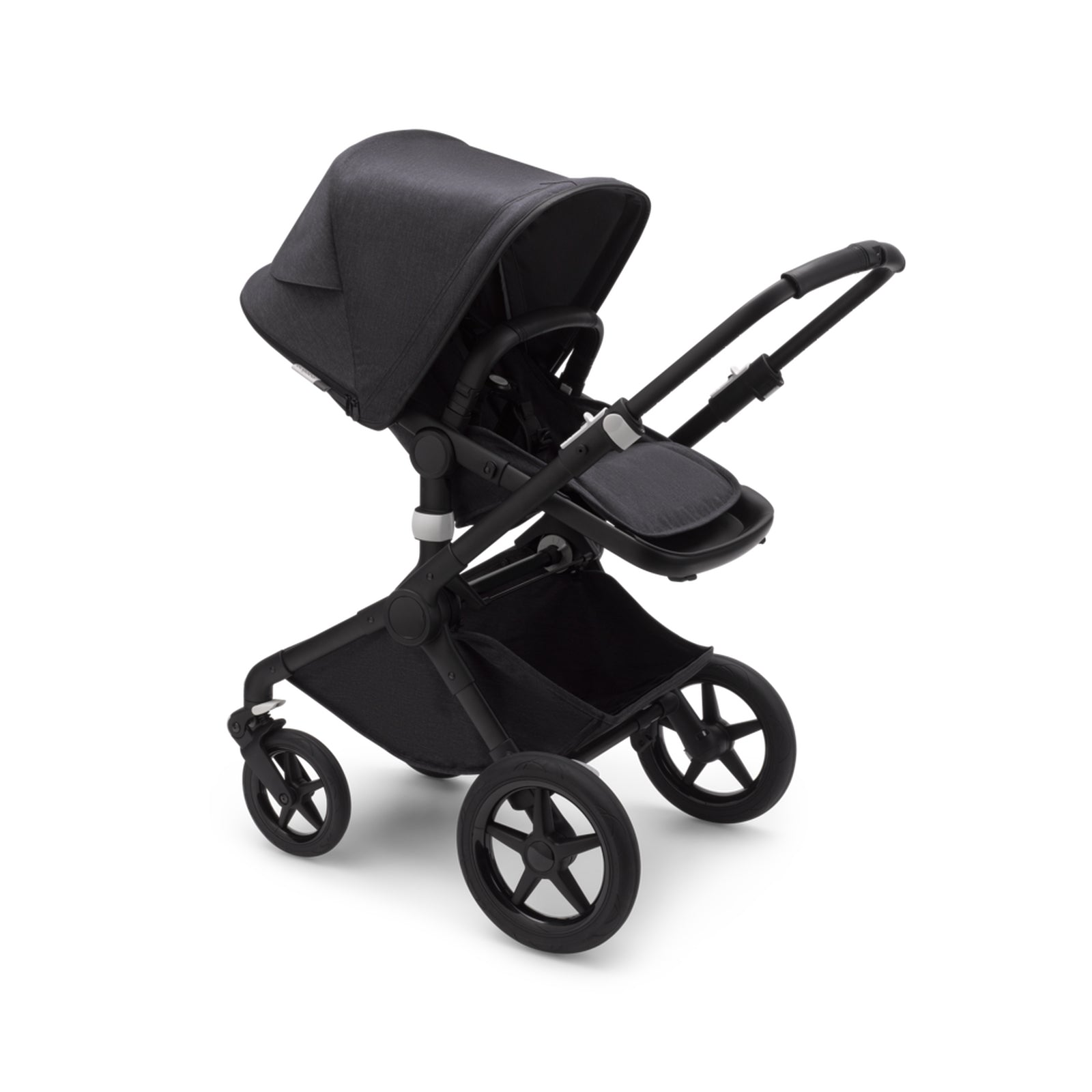 Bugaboo Fox 2 Seat and Carrycot Pushchair - Mineral Washed Black