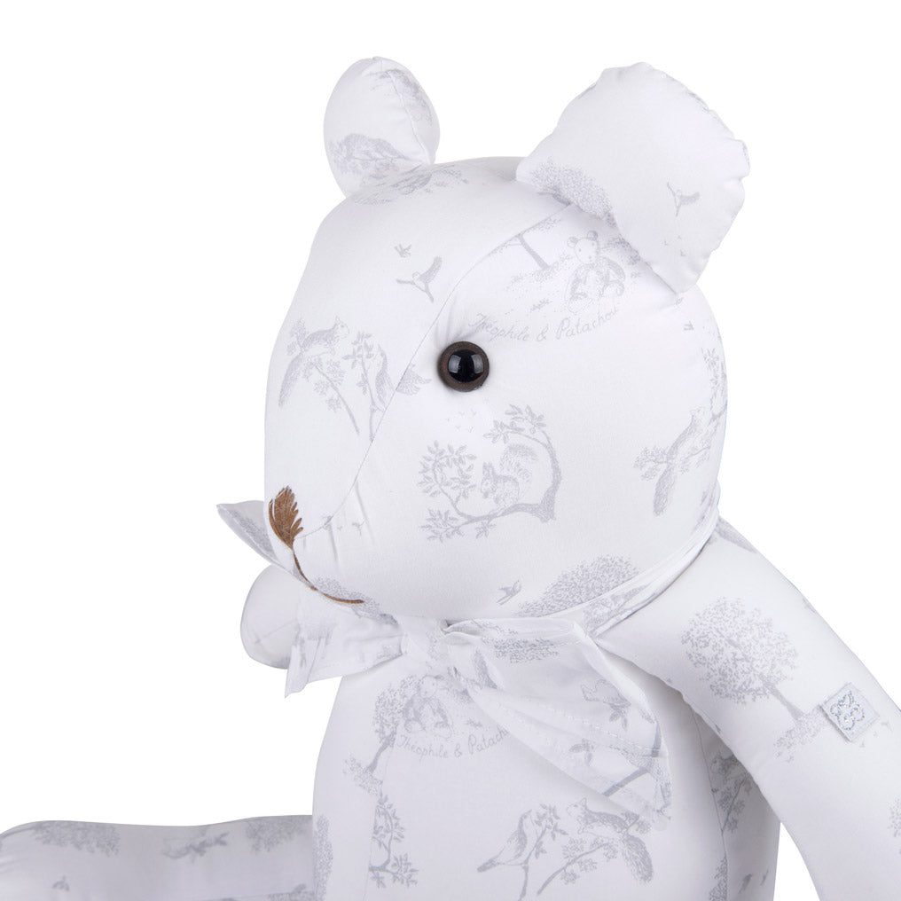 Theophile & Patachou Iconic Teddybear for Babyroom - Printed Soft Grey