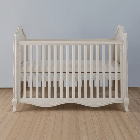 Teddy One Roseberry Kids Set of 3 Pcs - Cot Bed (Pointing Finish), Dresser and Wardrobe