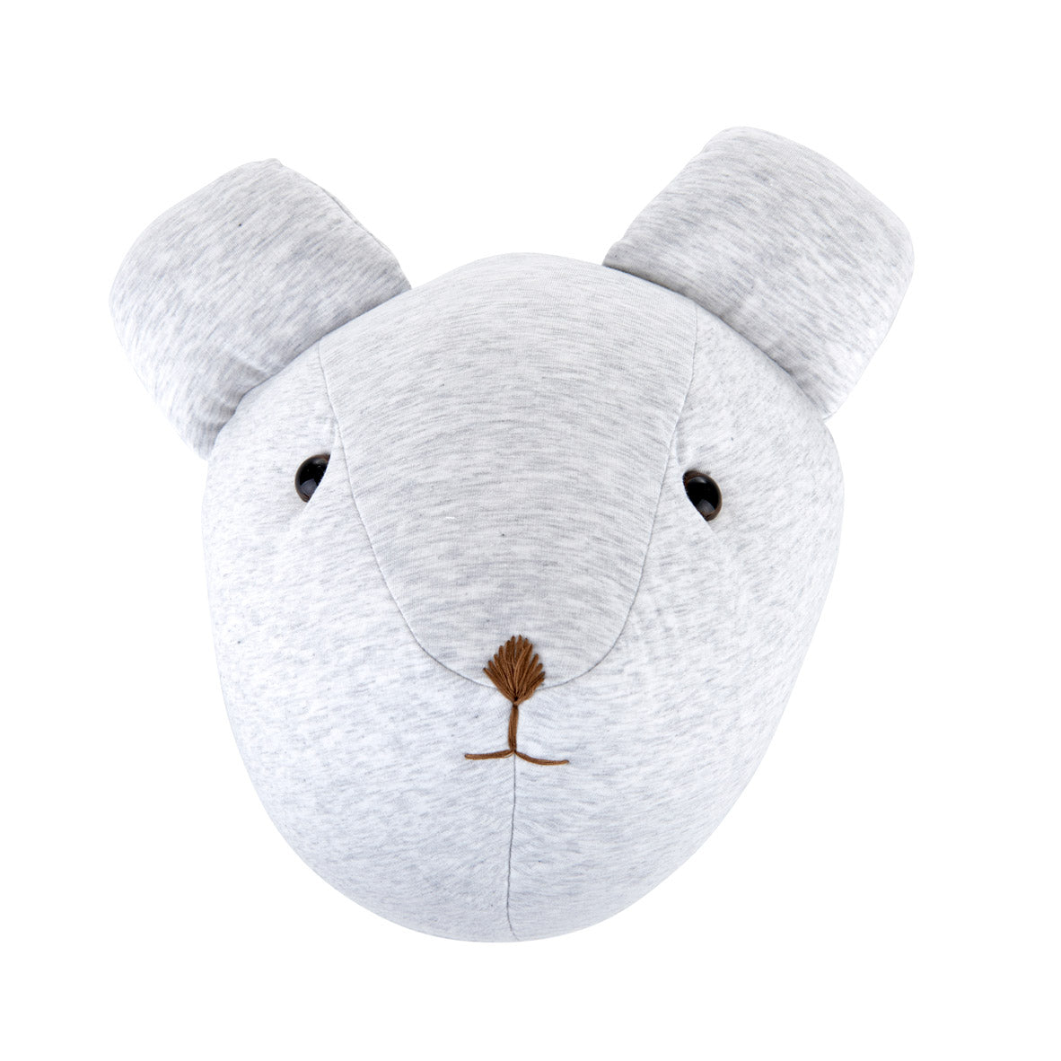 Theophile & Patachou Bear Trophy Head for Children's Room - Soft Grey