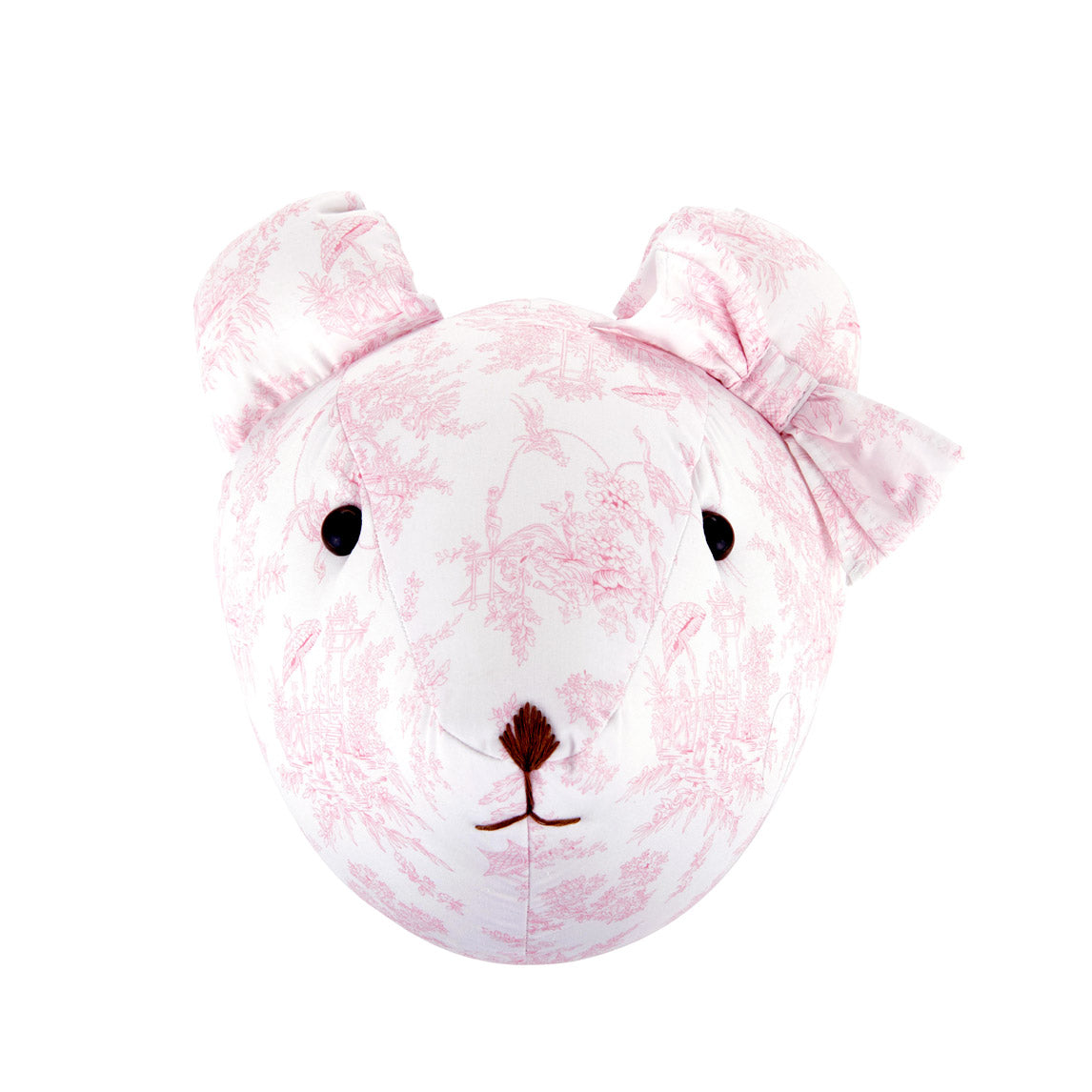 Theophile & Patachou Bear Trophy Head for Children'S Room - Sweet Pink