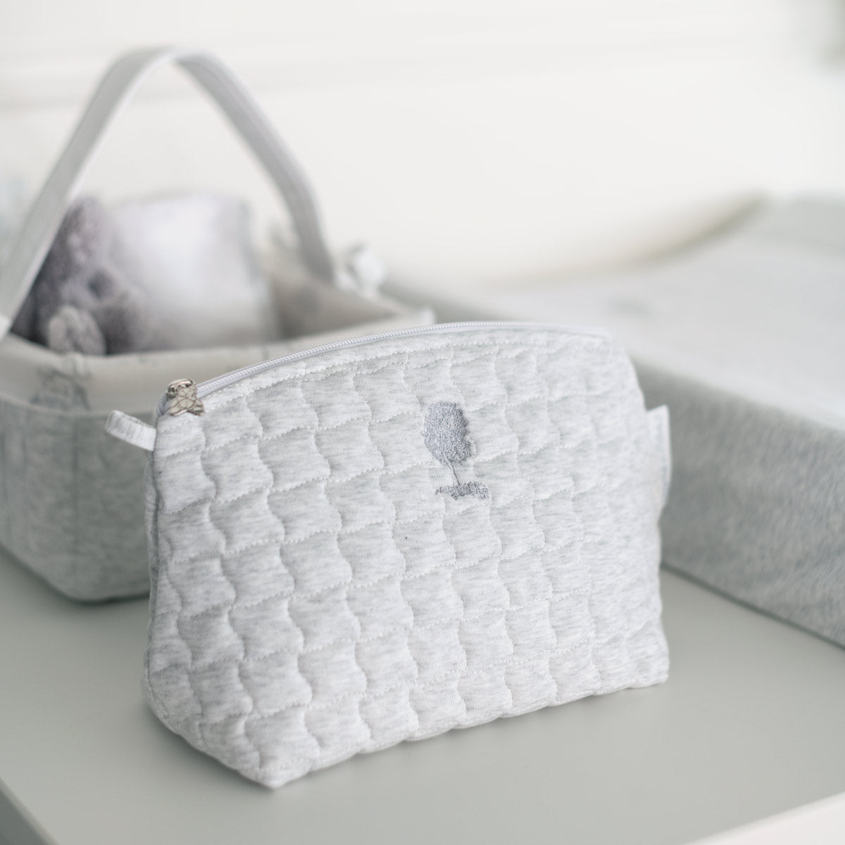 Theophile & Patachou Toilet Bag Quilted - Grey