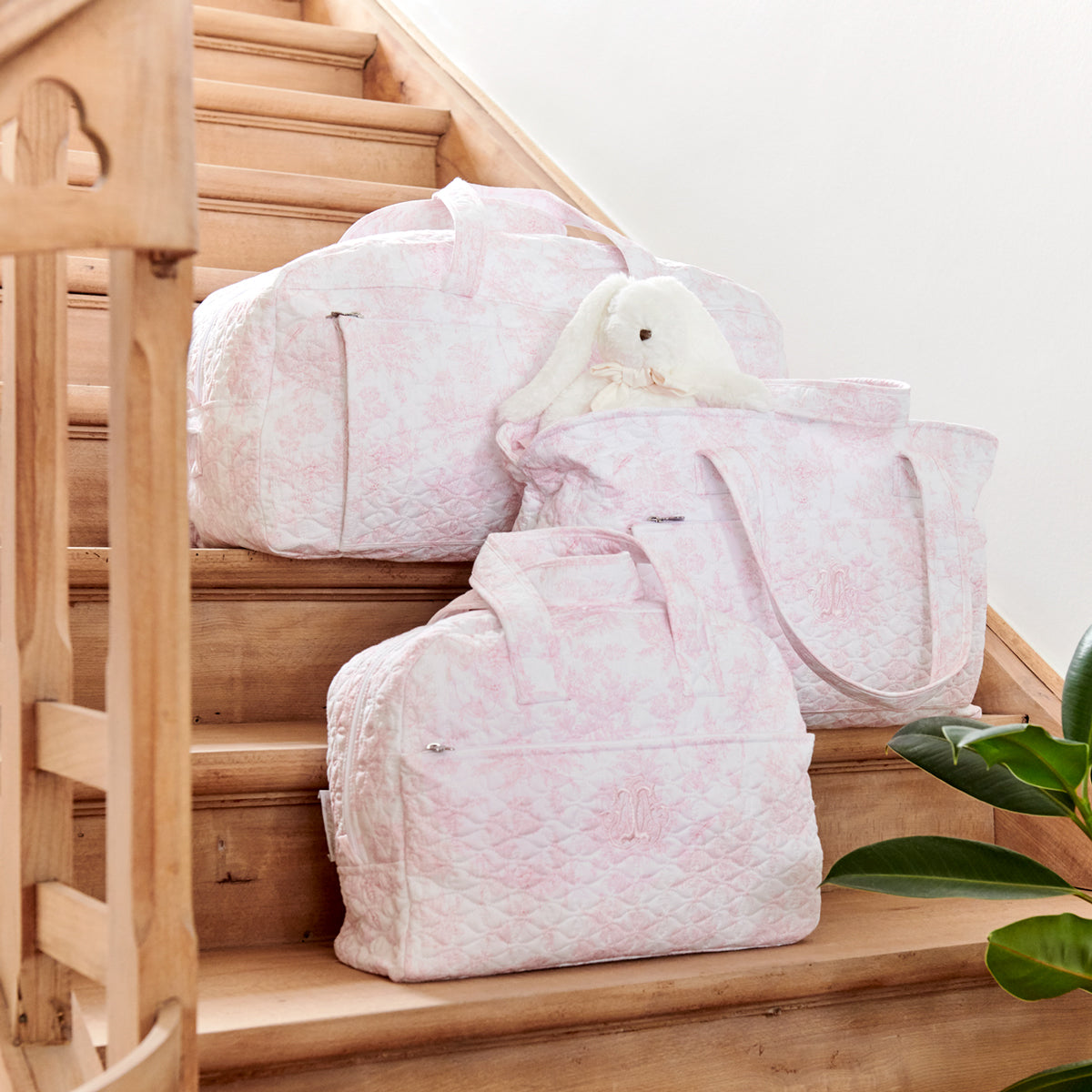 Theophile & Patachou Toiletry Bag Quilted - Sweet Pink