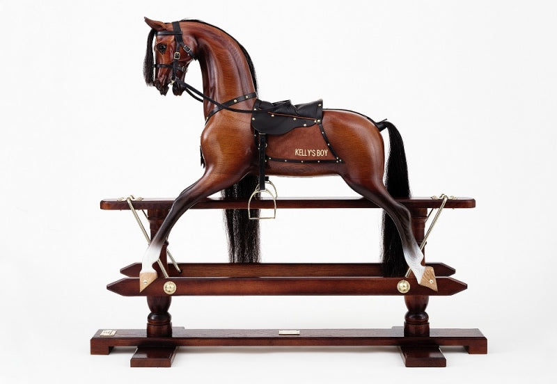 The Antiqued Oak Rocking Horse