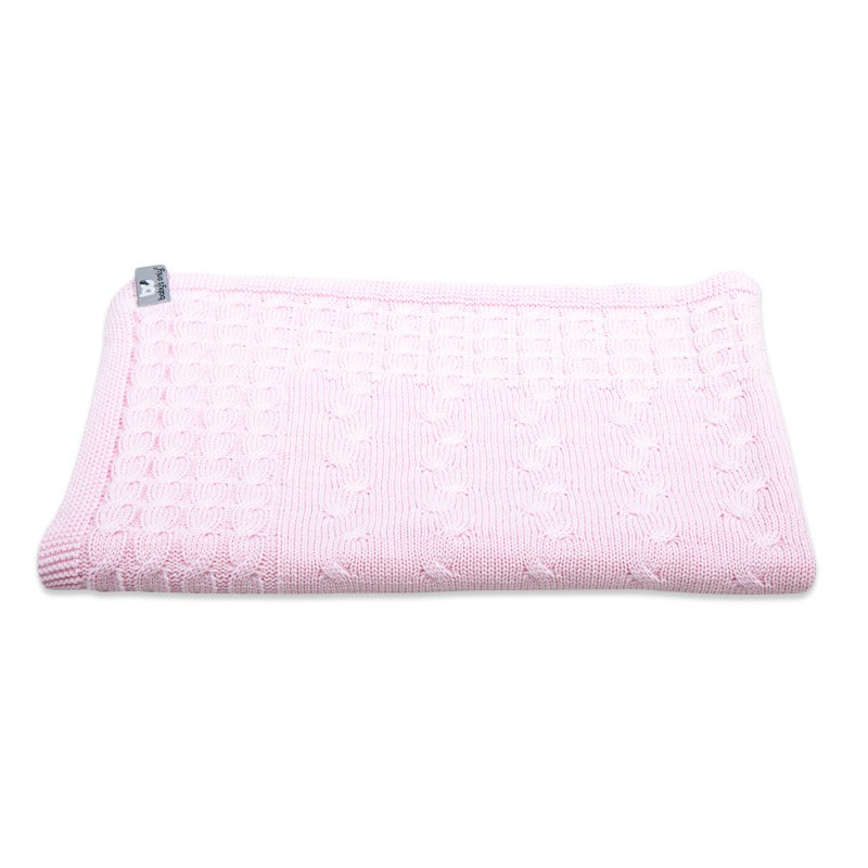 Baby's Only Crib Blanket - Cable Baby Pink