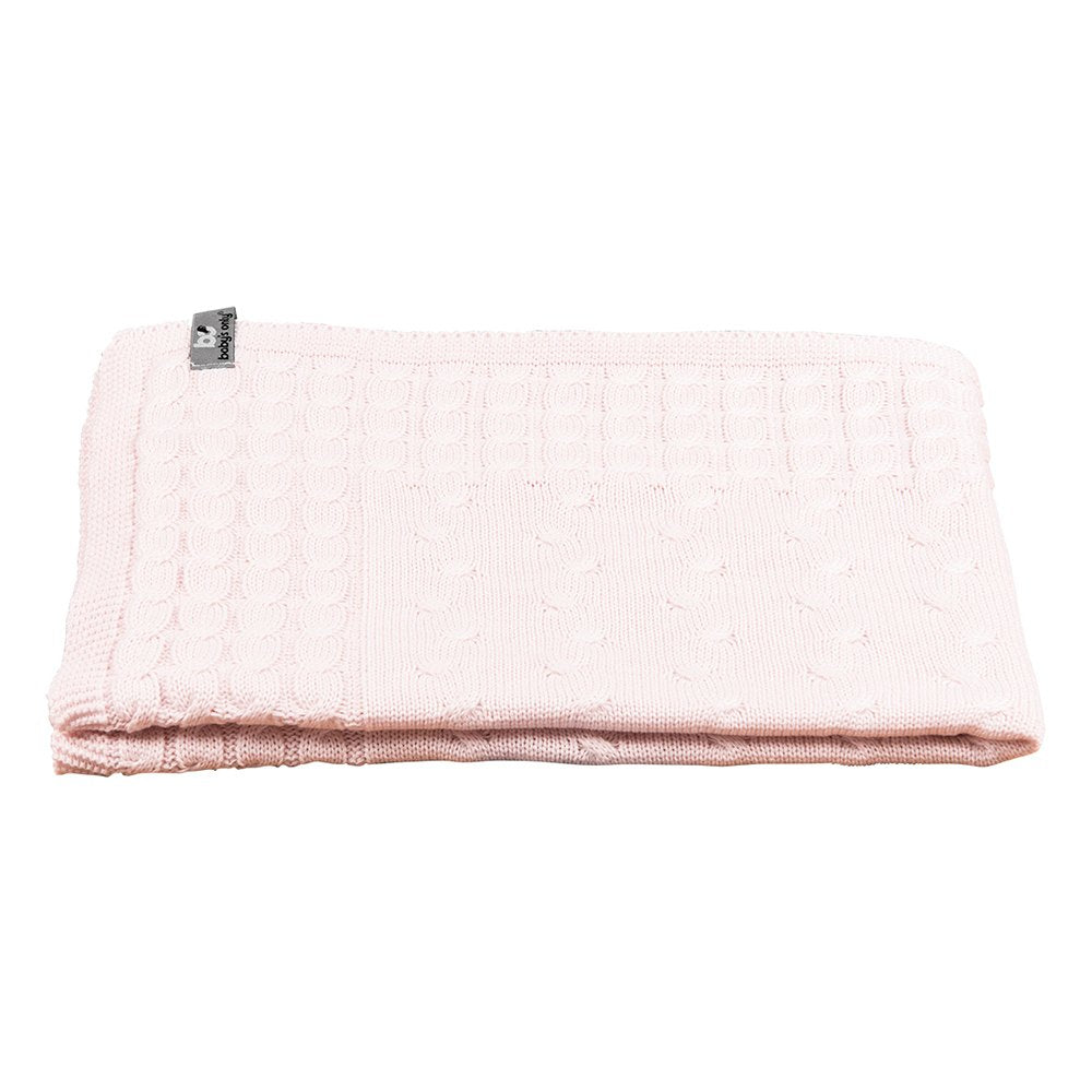 Baby's Only Crib Blanket - Cable Classic Pink