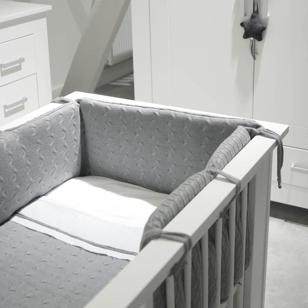 Baby's Only Crib Blanket - Cable Grey