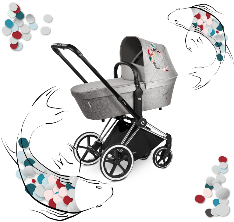 Cybex Priam Lux Carrycot - Fashion Edition Koi