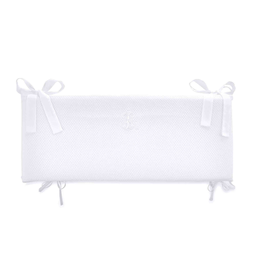 Theophile & Patachou Cot Bed Bumper 60cm - Royal White