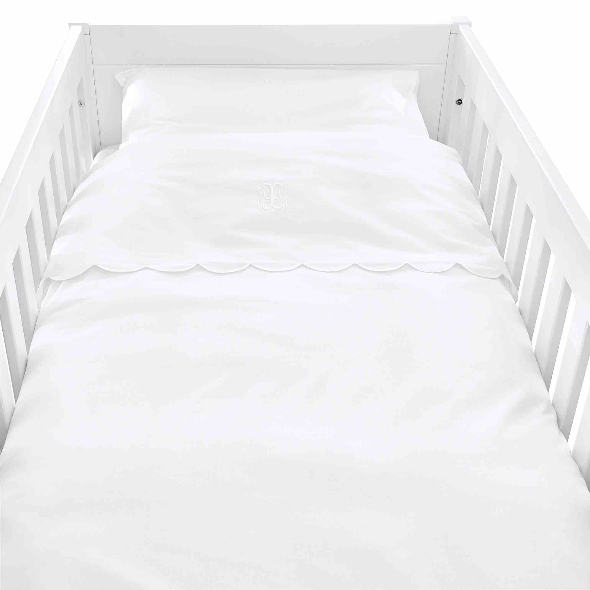 Theophile & Patachou Cot Bed Duvet Cover - Royal White