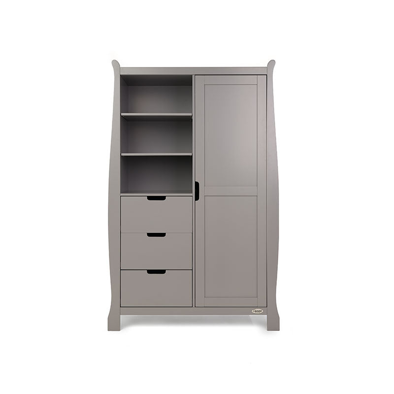 Obaby Stamford Double Wardrobe - Taupe Grey
