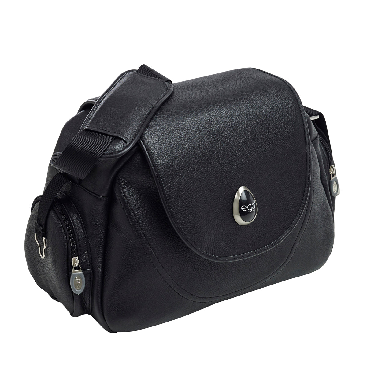 Egg Changing Bag - Black Leather