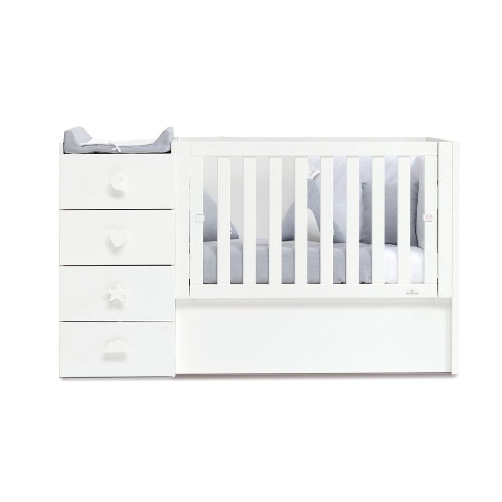 Alondra Convertible Crib Just Bubble - White
