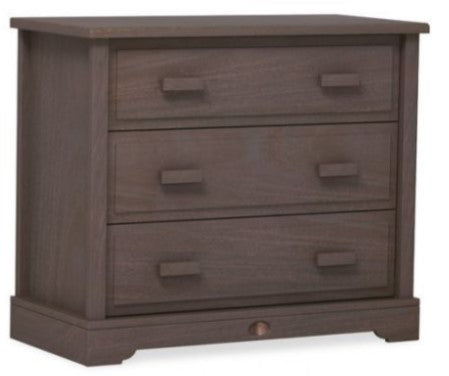 Boori Eton Convertible Plus 3 Drawer dresser Shown with Squared Changing station - Mocha