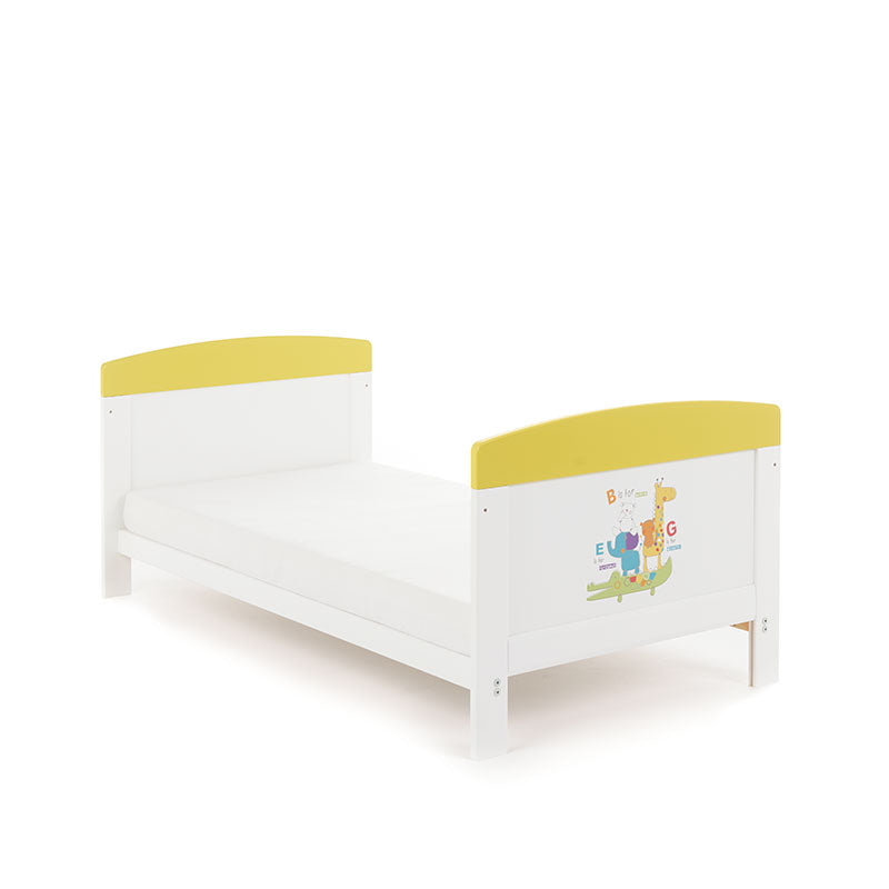Obaby Grace Inspire Cot Bed - B is for Bear Happy Safari