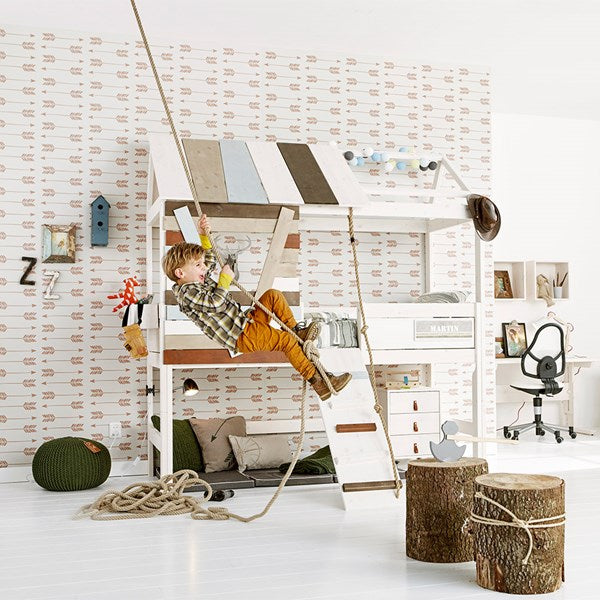Lifetime Kidsroom - High Treehouse Feature Bed with Rope Ladder
