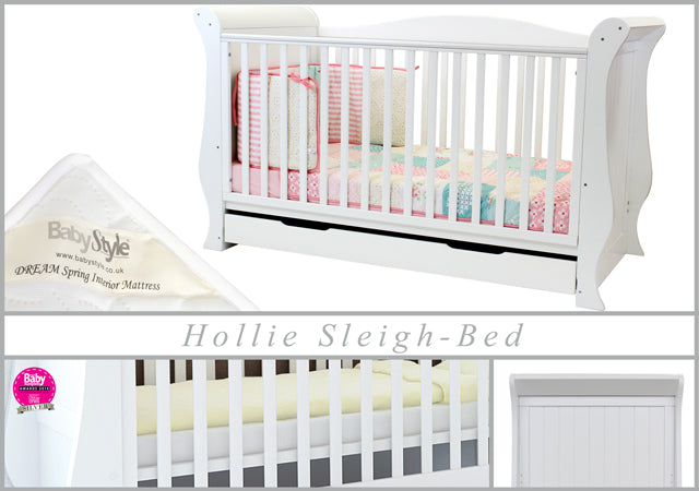 Babystyle Hollie Fresh White 3 Piece Nursery Room Set