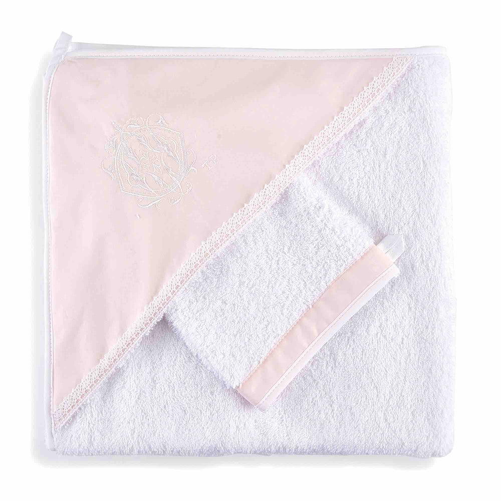 Theophile & Patachou Hooded Towel - Royal Pink