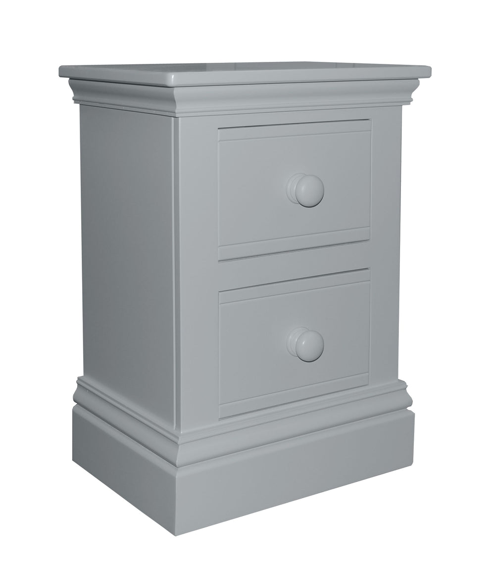 New Hampton 2 Drawer Bedside Table - Moon Dust