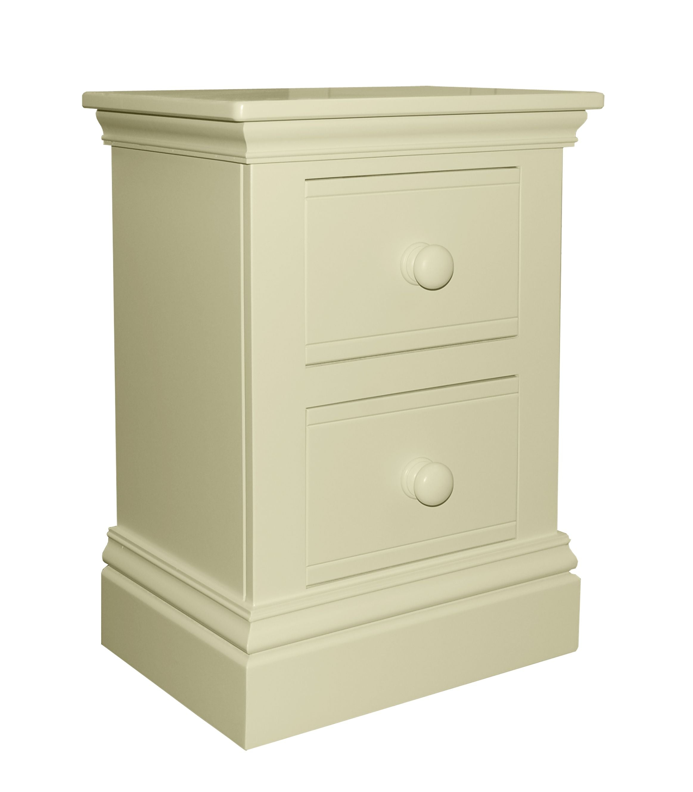 New Hampton 2 Drawer Bedside Table - Ivory