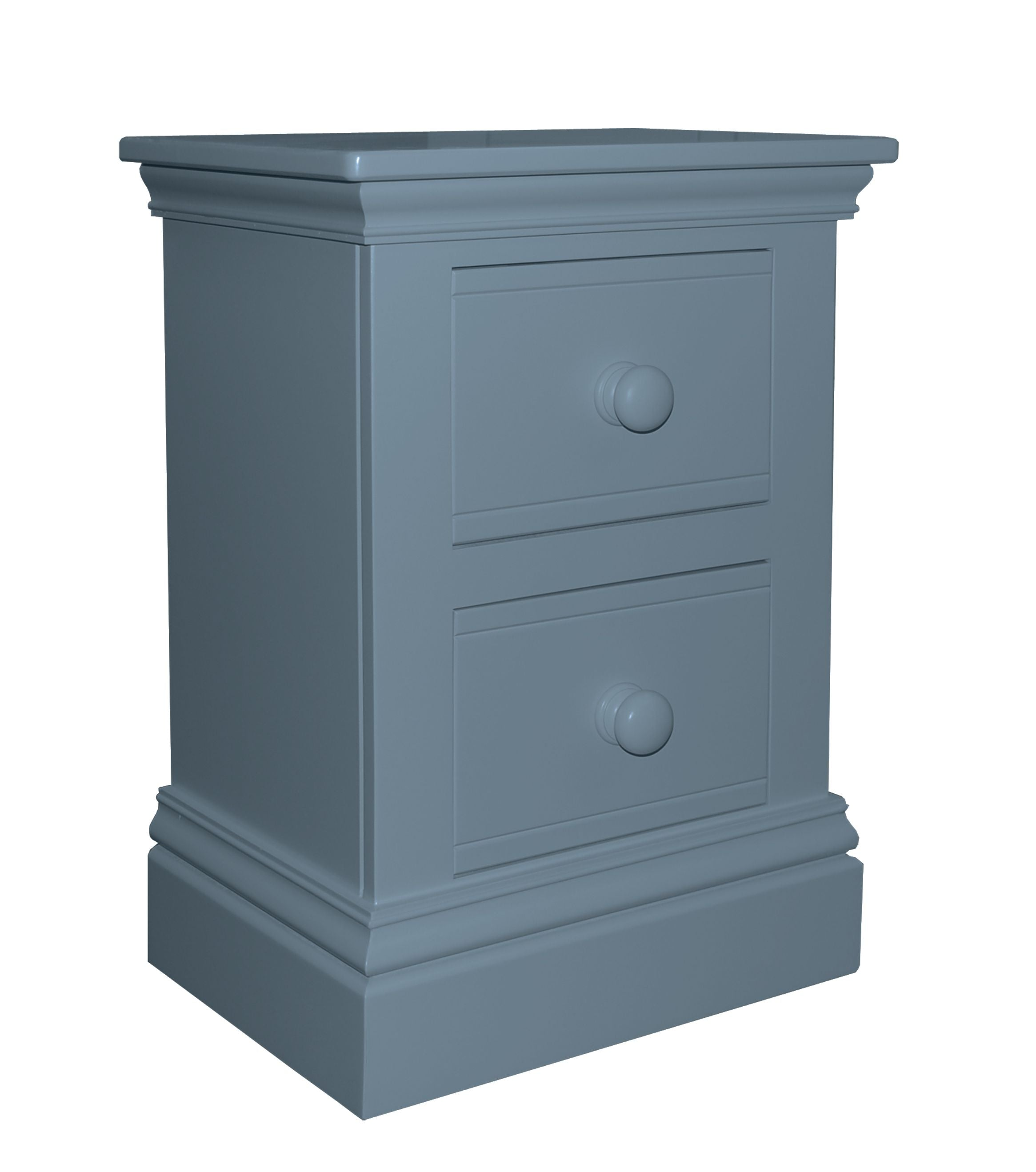 New Hampton 2 Drawer Bedside Table - Night Sky