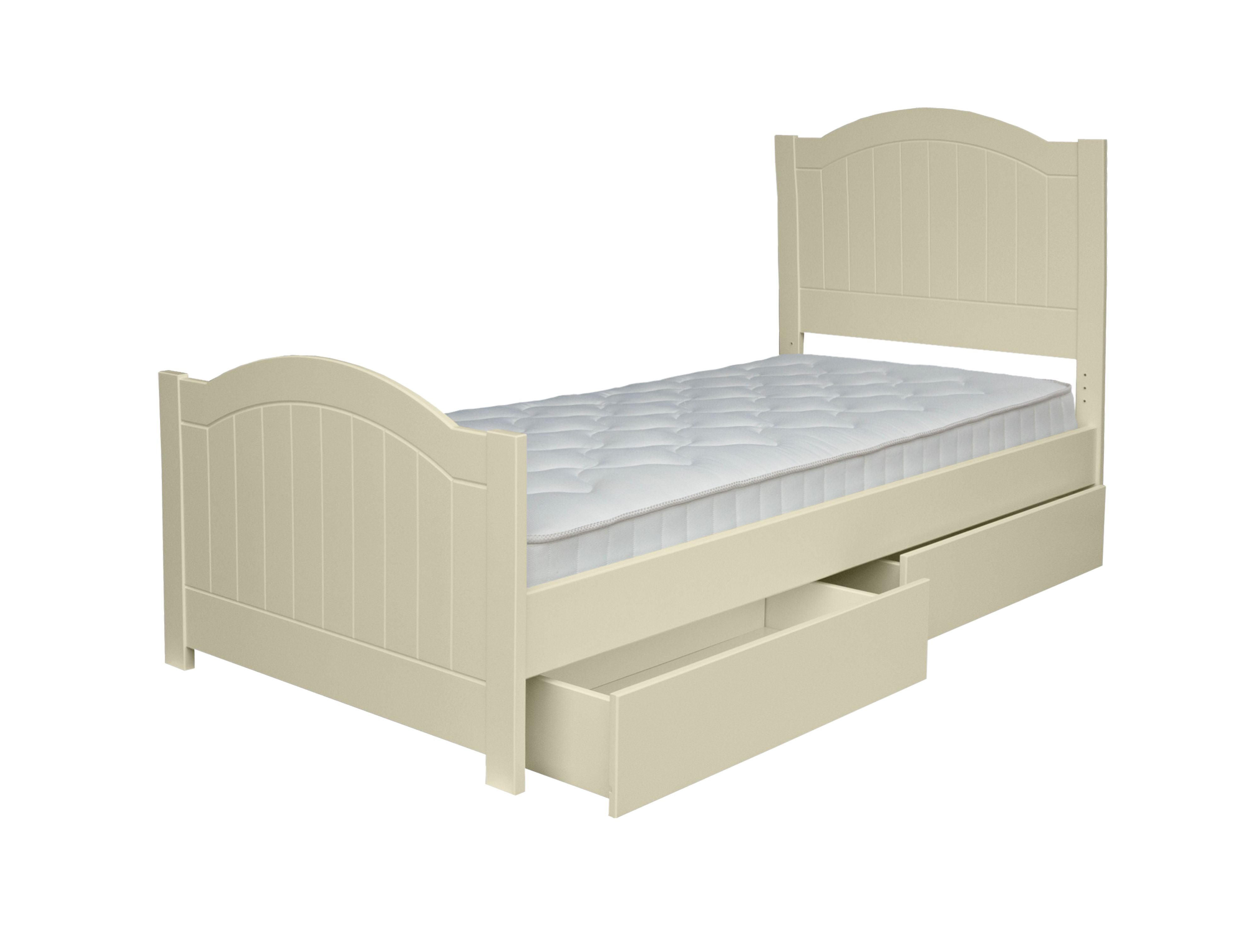 New Hampton Grooved Single Bed - Ivory