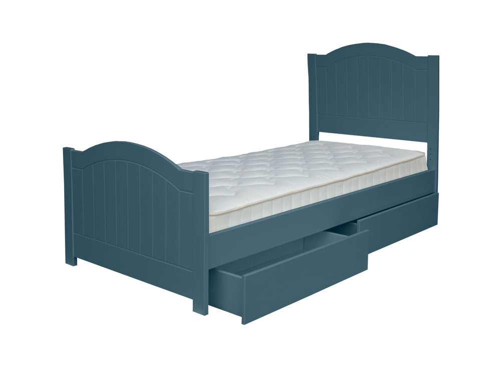 New Hampton Grooved Single Bed - Midnight Sky