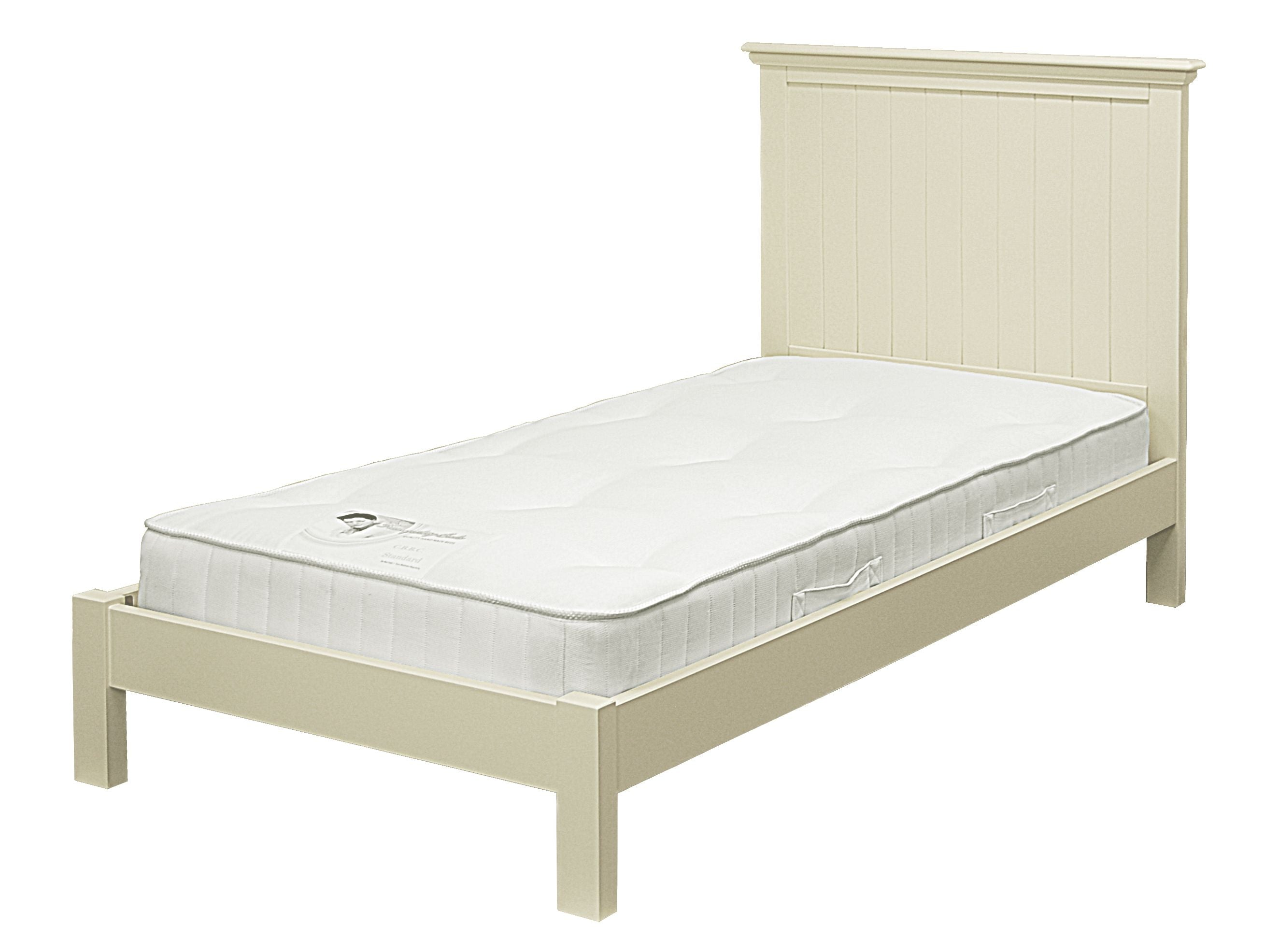 New Hampton Low Foot End Grooved Single Bed - Ivory