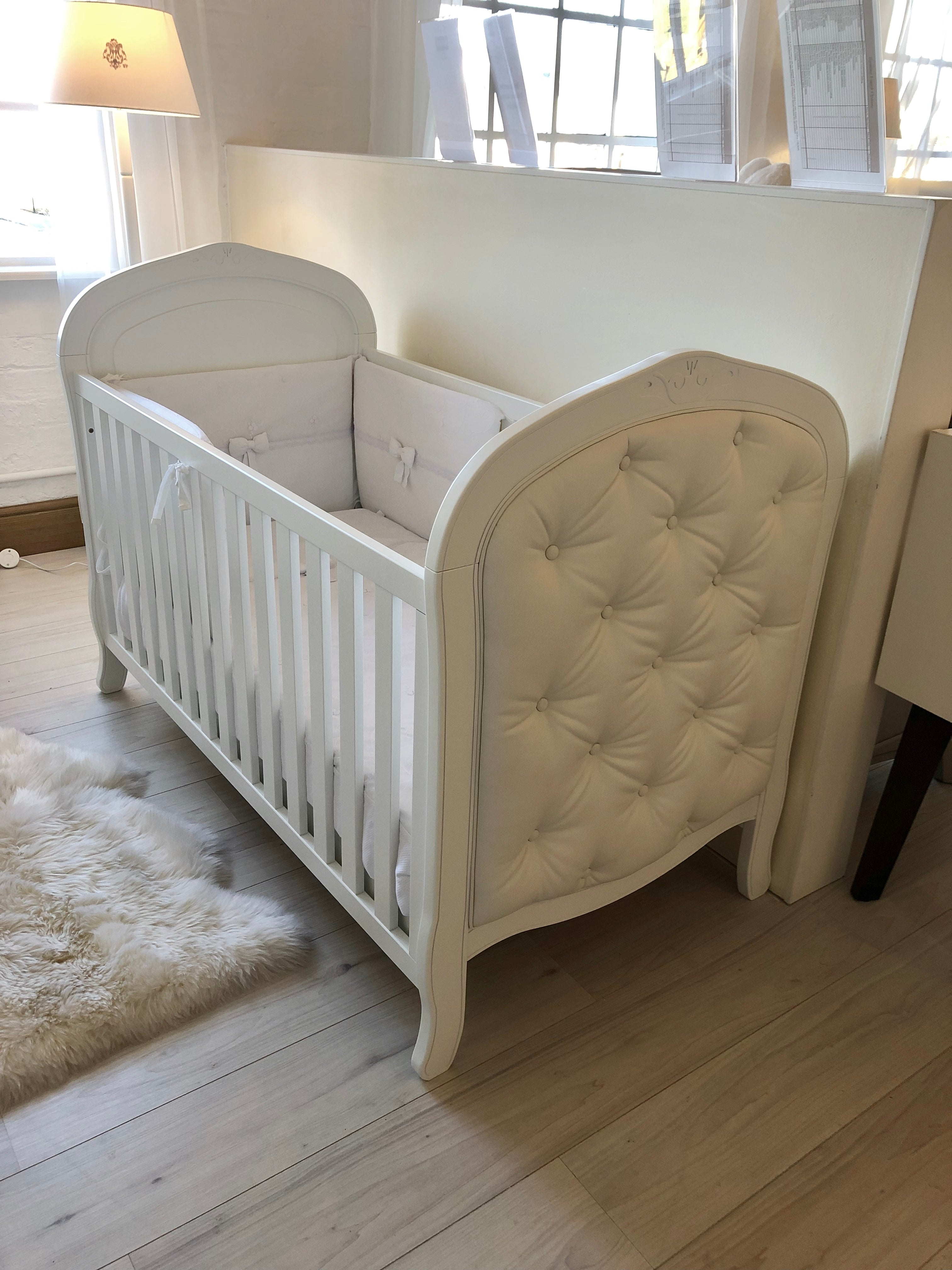 Adorable Buttoned Cot Bed 140x70 - Deleted on Shopify