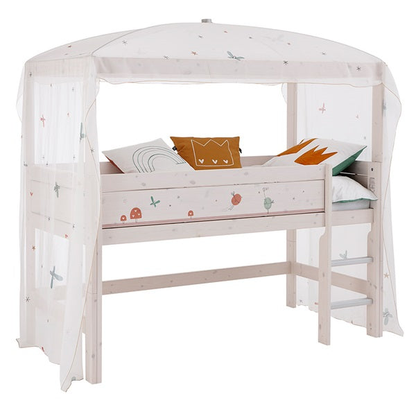 Lifetime Kidsrooms - Fairy Dust Mid Sleeper Four Poster Bed