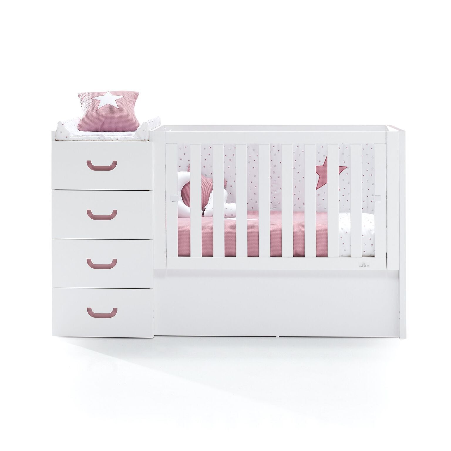 Alondra Convertible Crib Just Joy - Rose