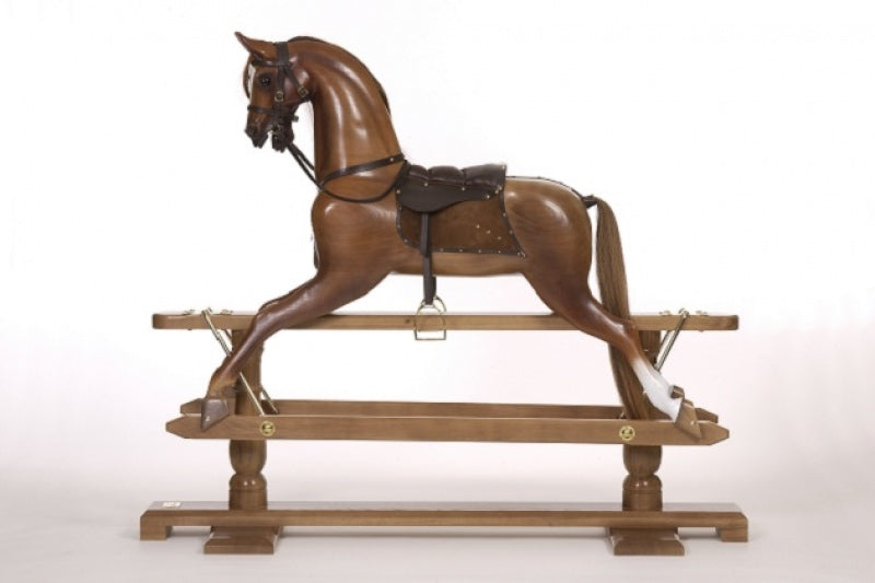 The Mid Brown Oak Rocking Horse